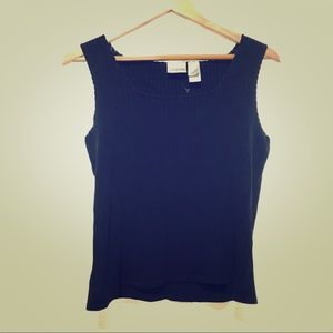 Vintage 90's Square Neck Ribbed Tank Top